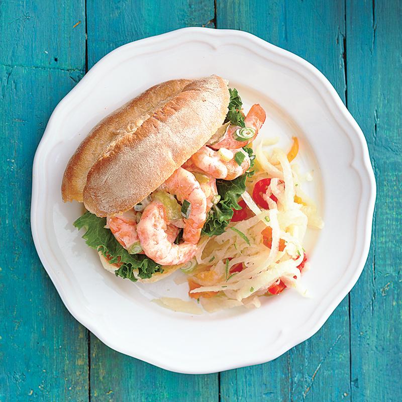 Lundi: Sandwichs aux crevettes