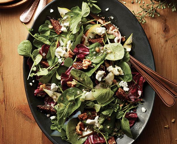 Salade de poires et de cresson