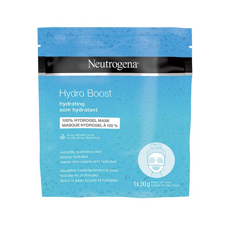 """<p>Masque hydratant hydrogel Hydro Boost, <a href=""""https://beauty.shoppersdrugmart.ca/Beauty/Catégories/Soins-de-la-peau/Masques/Masque-hydratant-hydrogel-Hydro-Boost/p/NY48?variantCode=062600246103&tilePos=6?&lang=fr"""" target=""""_blank"""" rel=""""noopener"""">Neutrogena</a>, 4,29 $</p> <p>Idéal pour les visages desséchés par l'hiver, ce masque novateur à base d'algues désaltère la peau et apaise les irritations.</p>"""