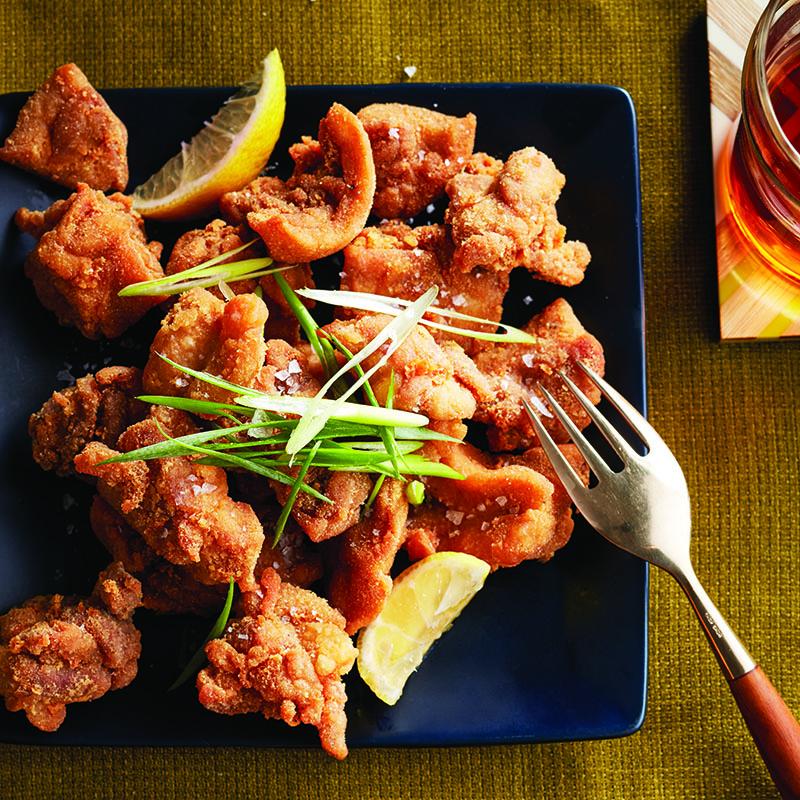 Bouchées de poulet frit à la japonaise (karaage)