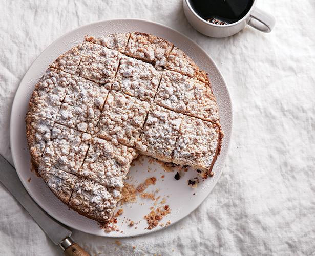 Gâteau aux bleuets, garniture croustillante