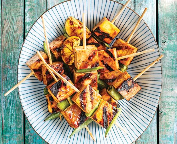 Brochettes de tofu au gingembre