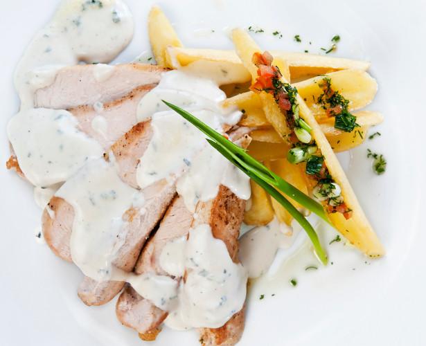 Poulet express au fromage bleu