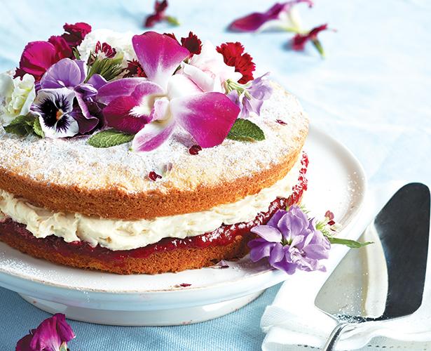 Gâteau éponge à la crème au mascarpone vanillée