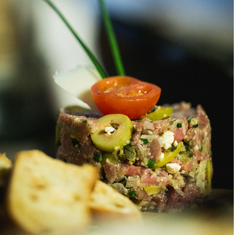 Tartare de bœuf style italien