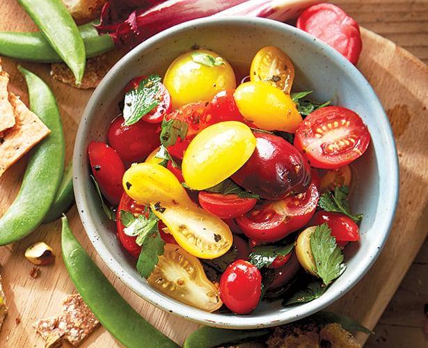 Tomates cerises aux fines herbes