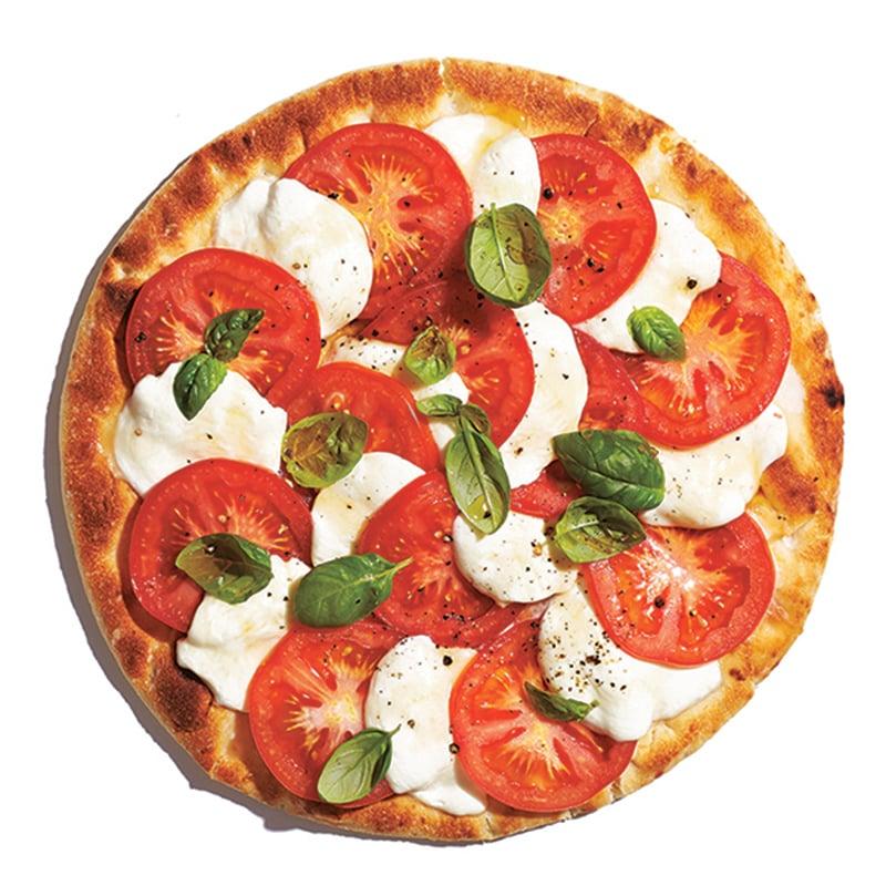 Pizza caprese grillée
