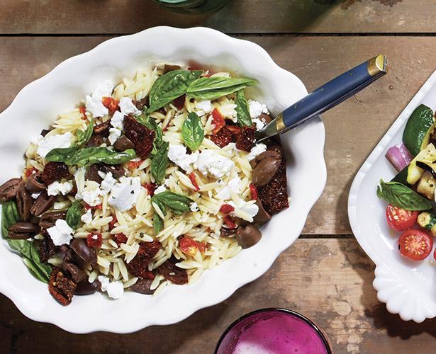 Salade d'orzo déesse grecque