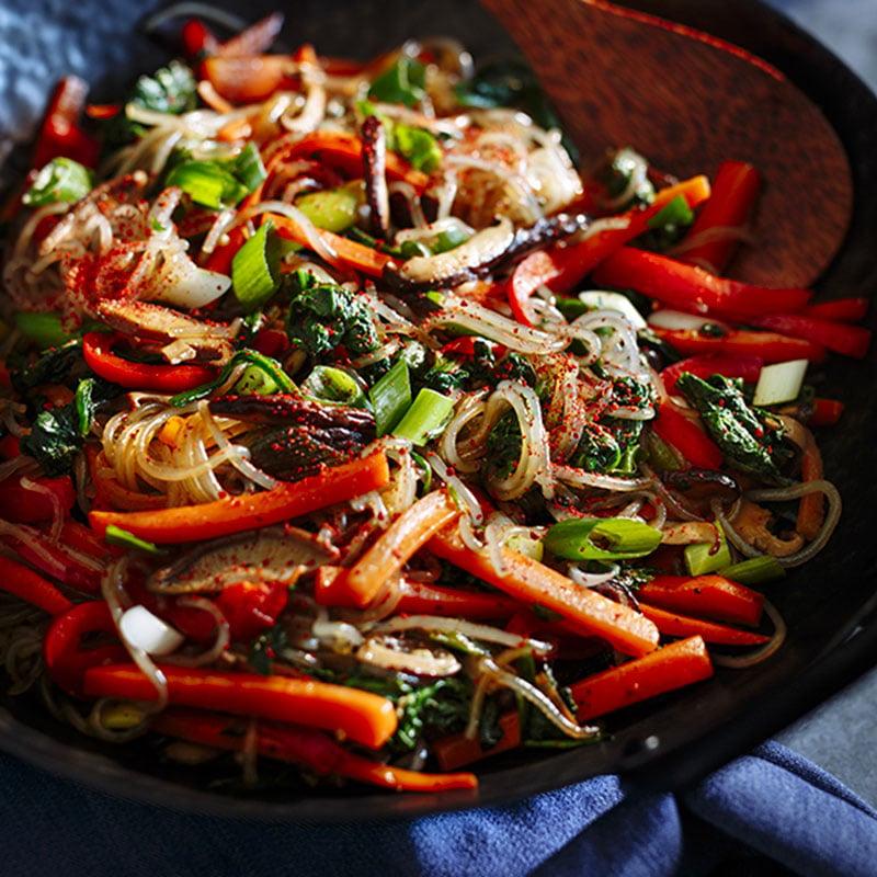 Japchae (Sauté de légumes et vermicelles de patate douce)