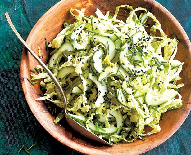 Salade de chou nappa et de ciboulette