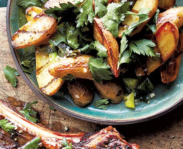 Salade de pommes de terre grillées chimichurri