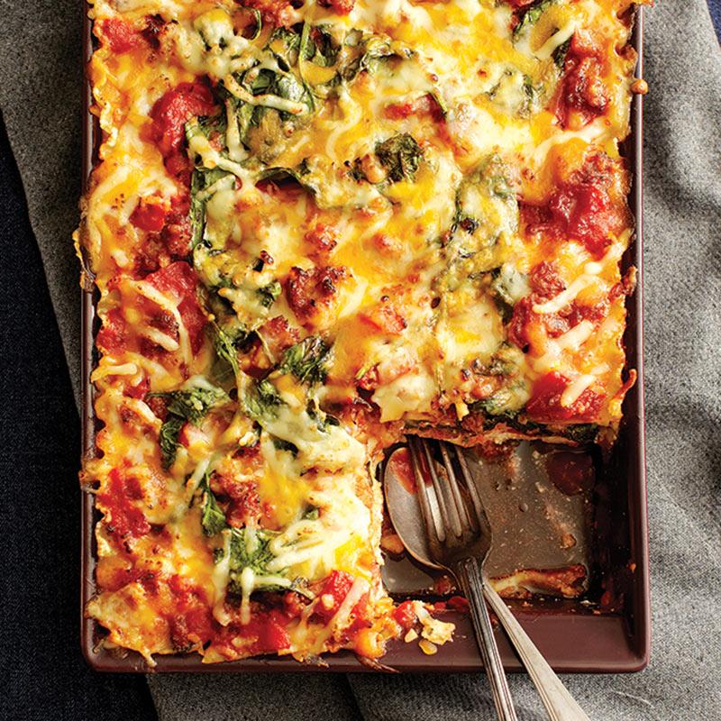 Lasagne à la saucisse italienne et aux épinards