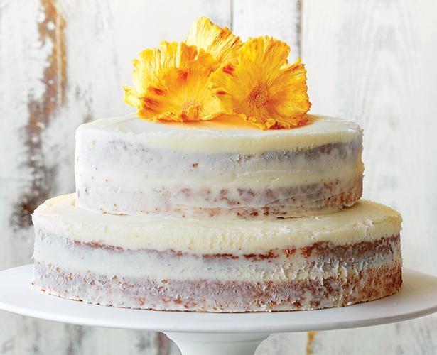 Naked cake aux parfums d'ananas, de gingembre et de lime