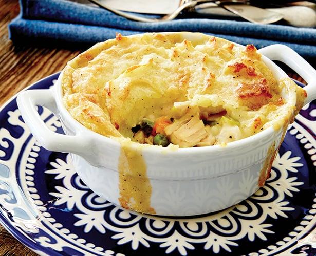 Pâtés à la dinde et à la purée de pommes de terre