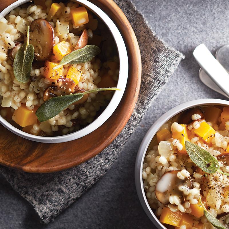 Mijoteuse: risotto végétarien à l'orge et à la courge