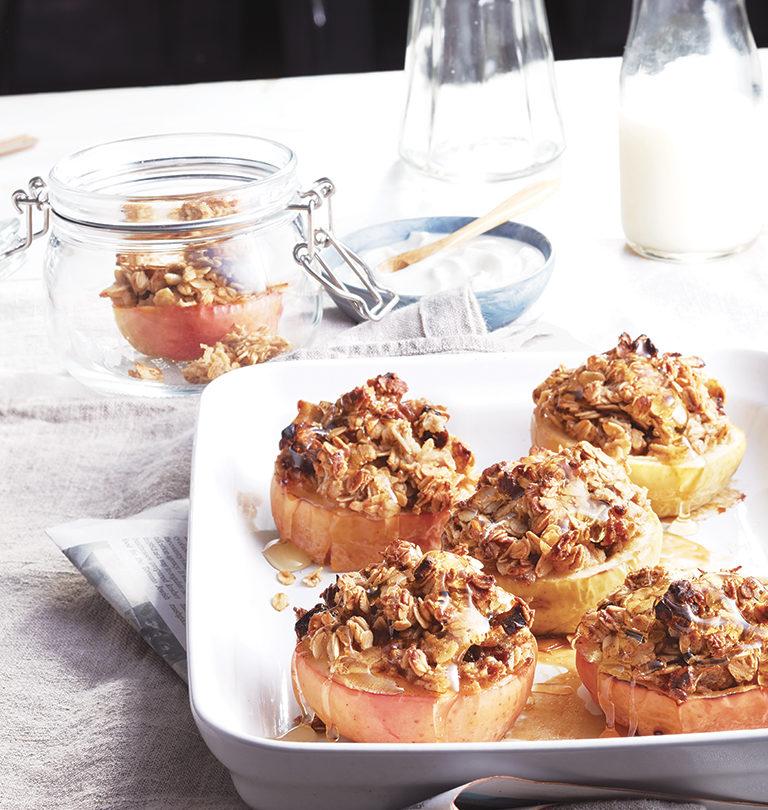 Pommes farcies aux flocons d'avoine