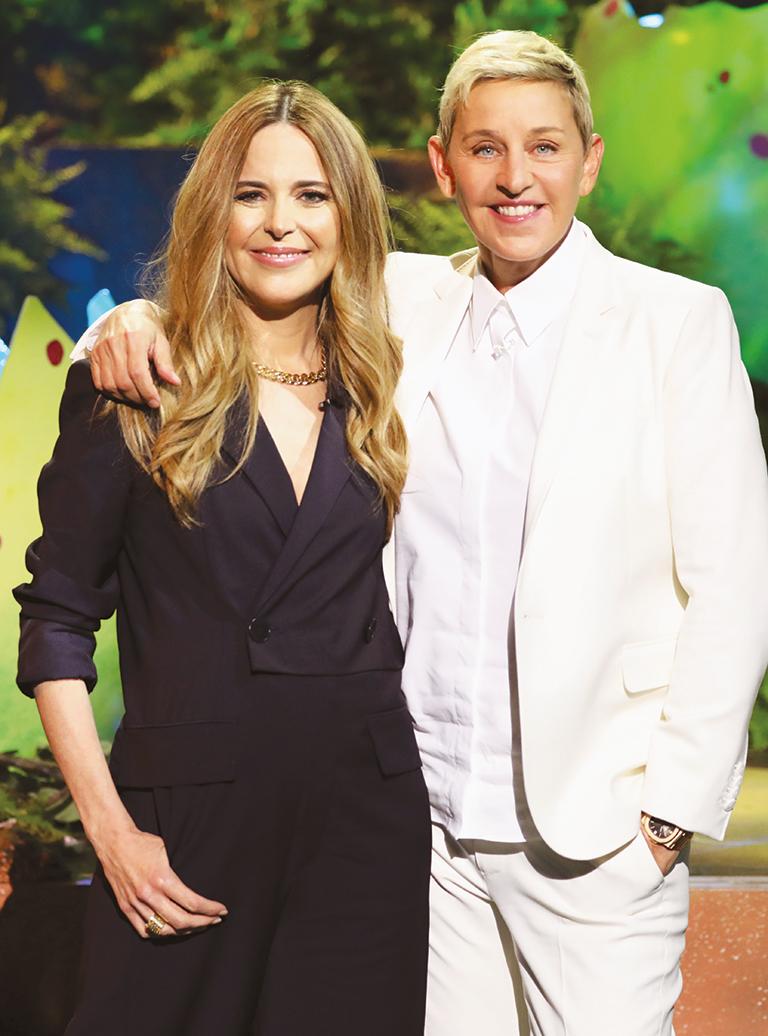 Julie Snyder et Ellen DeGeneres