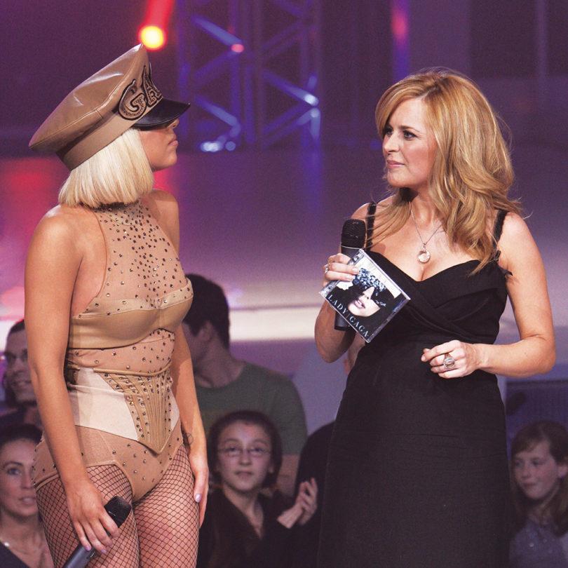 Julie Snyder et Lady Gaga