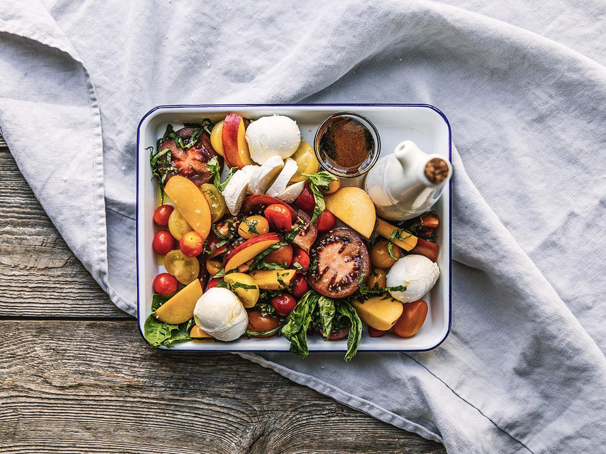 Salade tomates et nectarines