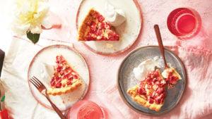 Dessert rhubarbe
