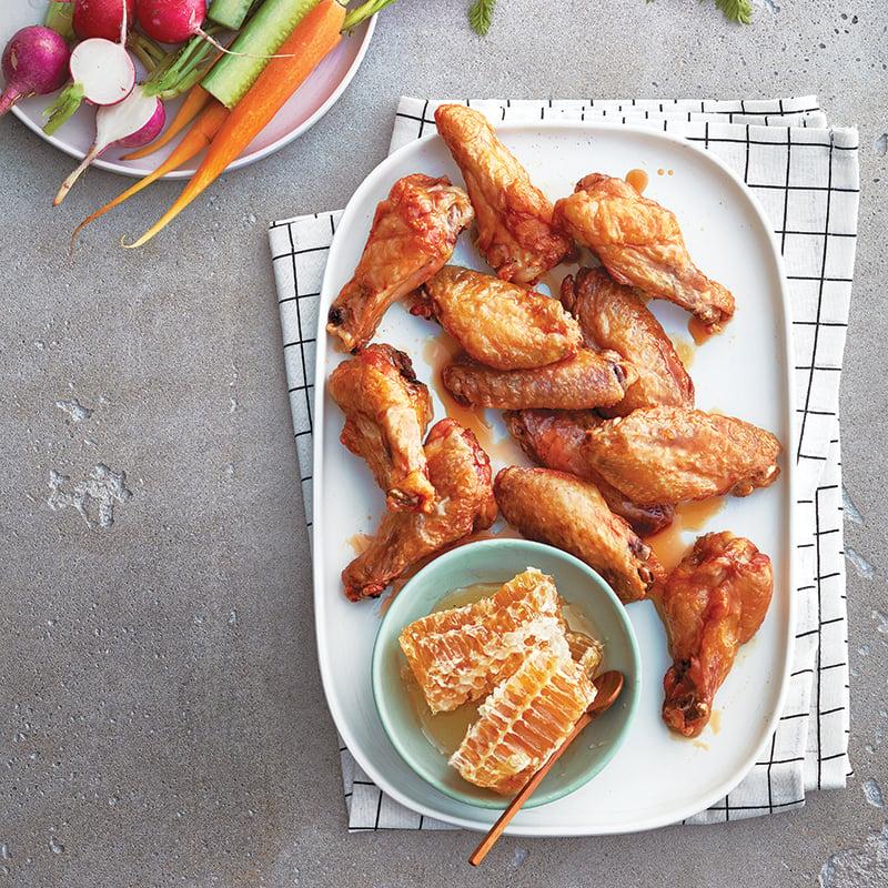 Ailes de poulet miel et ail