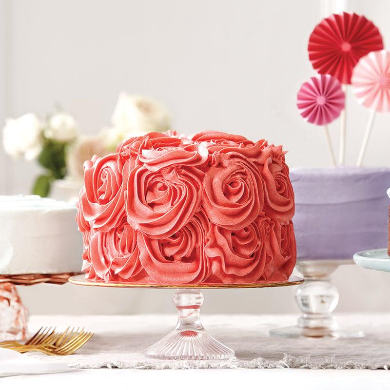 Gâteau aux cerises, glaçage à la pâte d'amandes