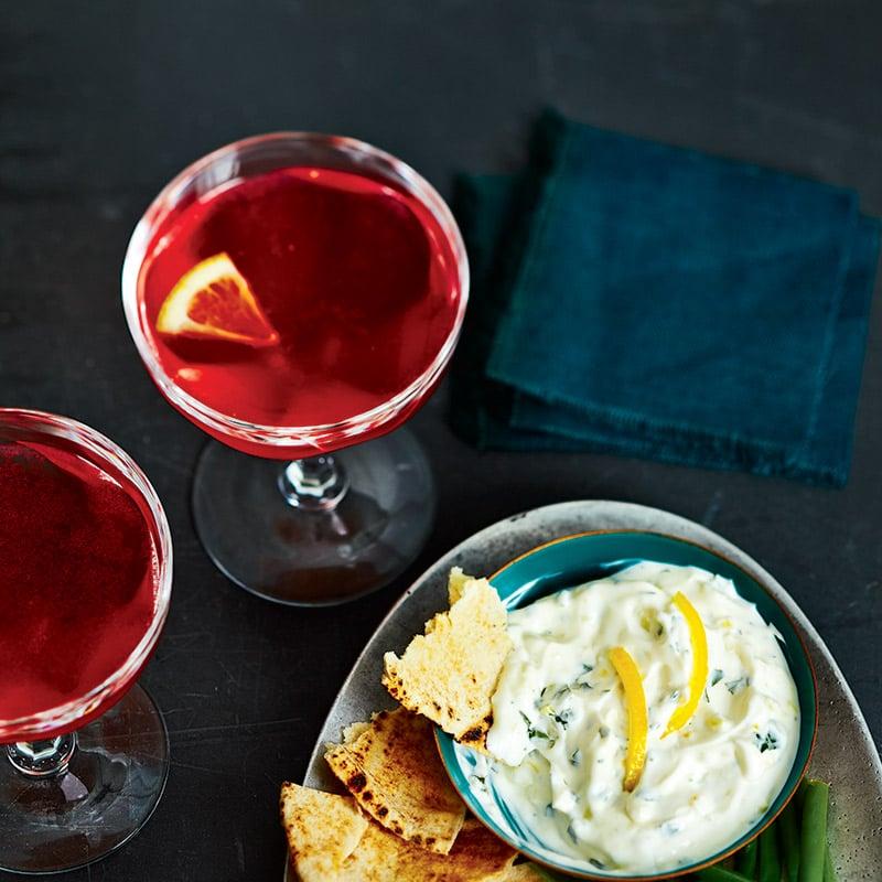 Cocktail rosé au campari