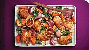 hauts de cuisses de poulet à l'orange