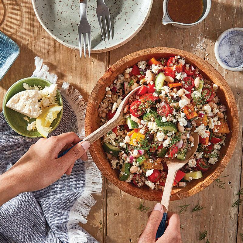 Salade grecque au sarrasin grillé